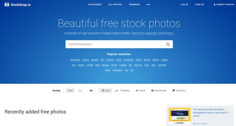 StockSnap banque images gratuites