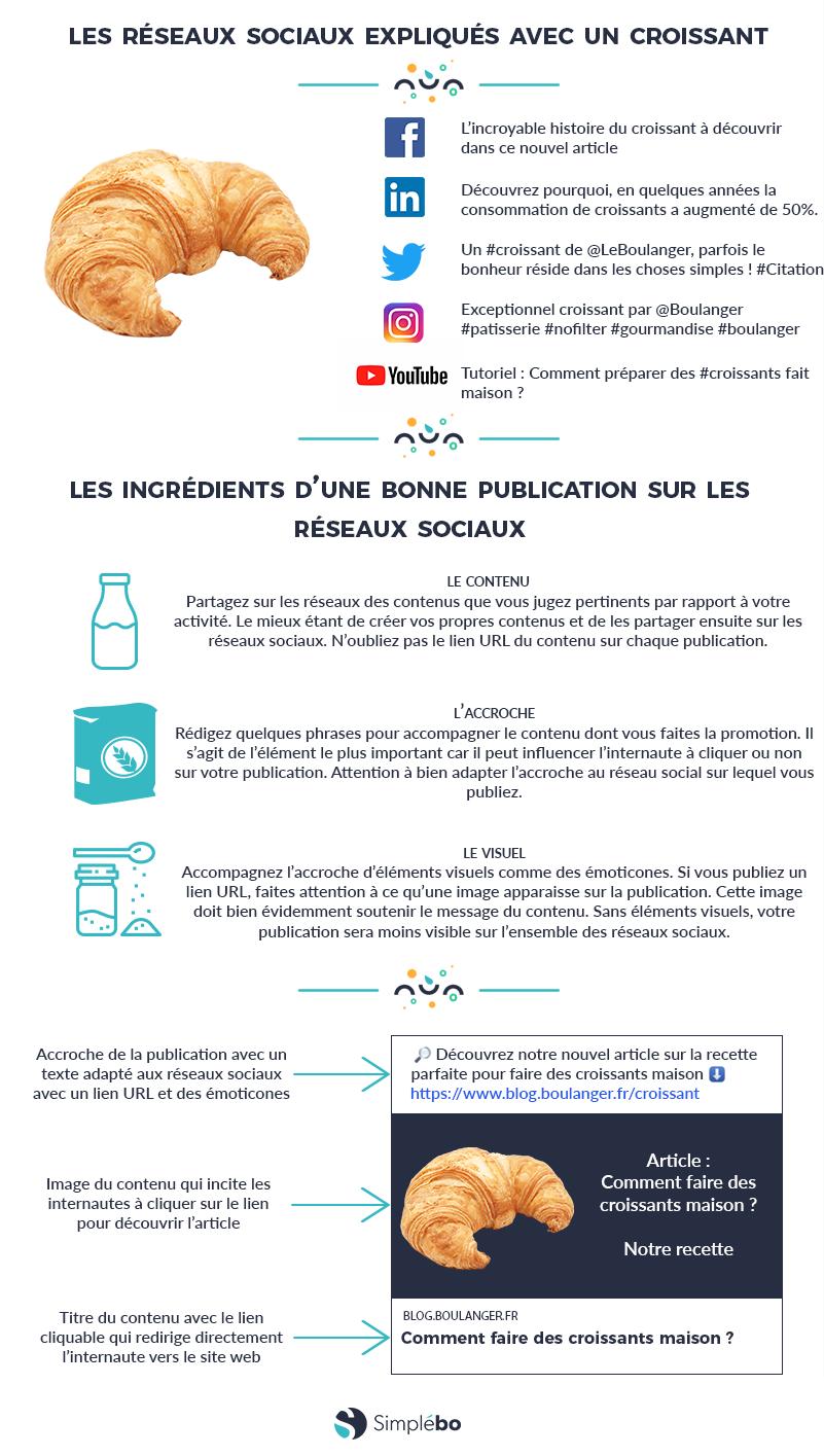 Infographie publication sur les réseaux sociaux