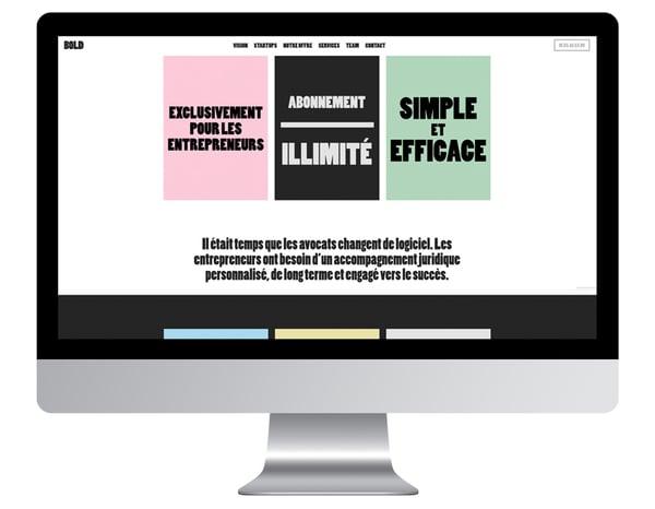 Exemple site internet avocat Bold