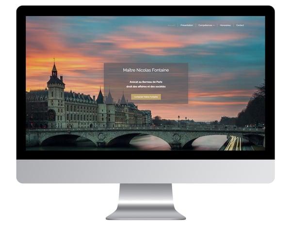 Exemple site internet avocat Fontaine