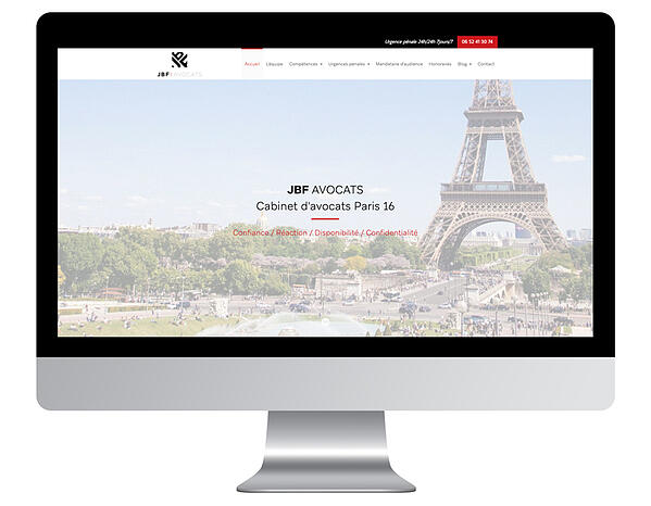 Exemple site internet avocat JBF