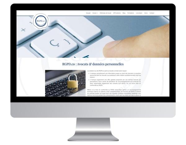 Exemple site internet avocat RGPDco
