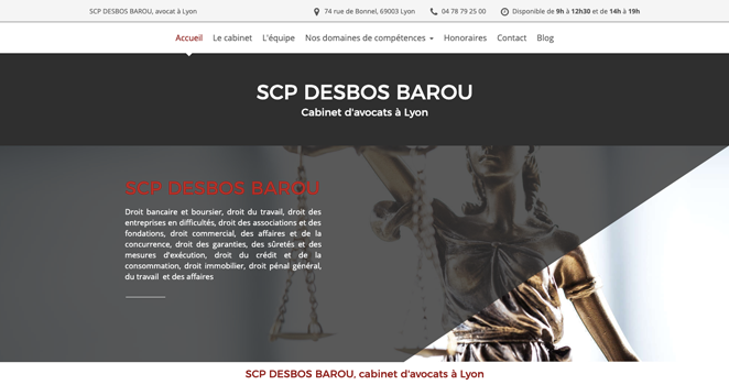 desbos barou avocats site internet exemple