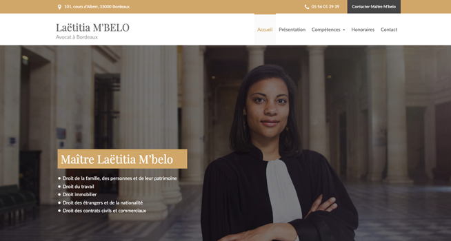 site internet de laetitia mbelo avocat