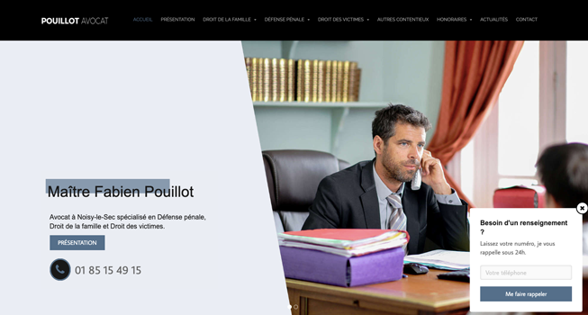 site internet exemple pouillot avocat