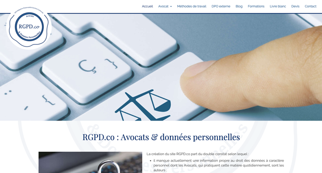 rgpd co avocats site internet exemple