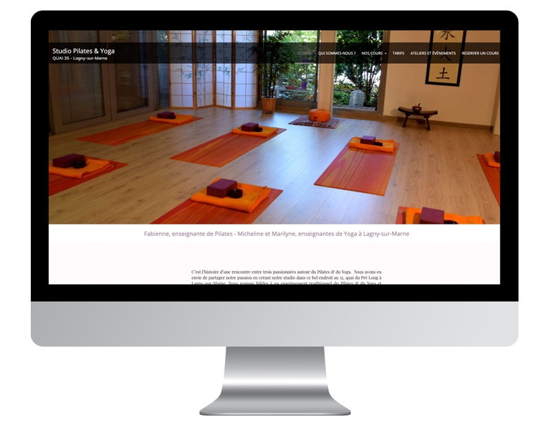 Exemple site internet yoga quai35