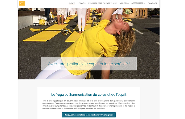 exemple site yoga lara