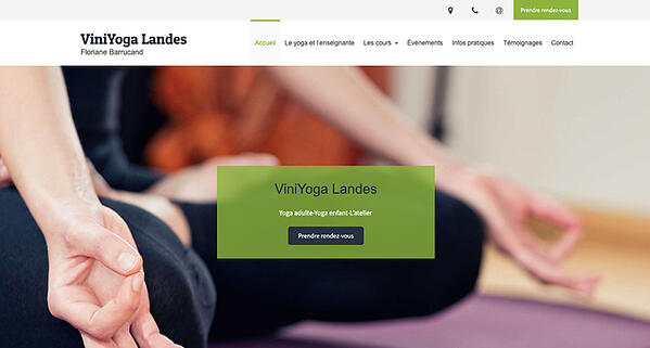 exemple site internet yoga landes