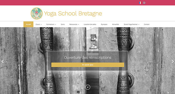 exemple site internet yoga school Bretagne