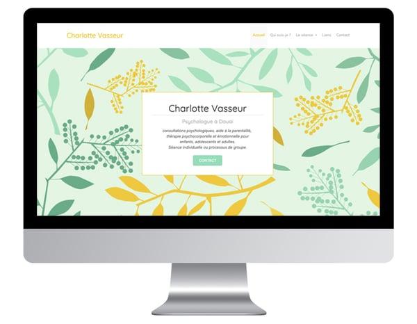 Charlotte Vasseur exemples sites internet psychologue