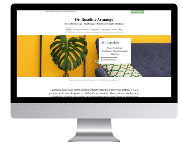 Exemple site internet design psychologue paris