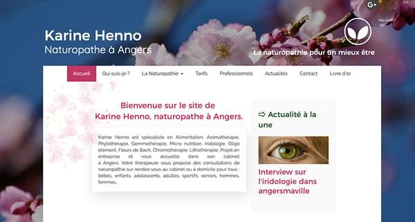 exemple site Karine-Henno naturopathe