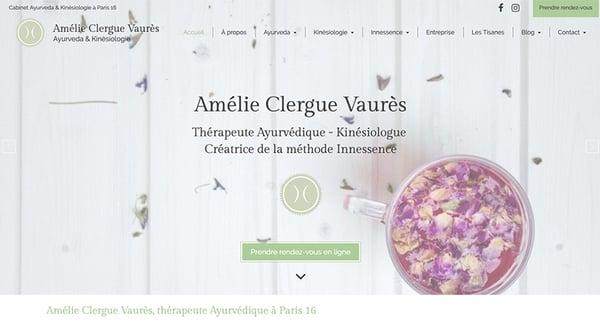 amelie clergue vaures exemple site web naturopathe
