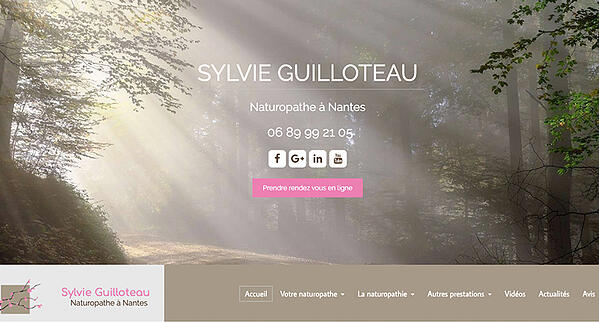 sylvie guilloteau exemple site internet naturopathe