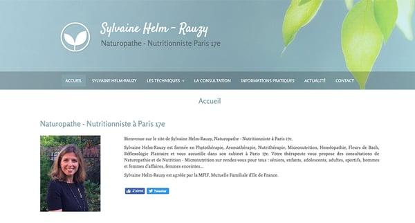 exemple site web naturopathe syvaine-helm