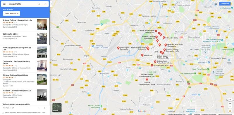 ordinateur recherche google maps professionnel