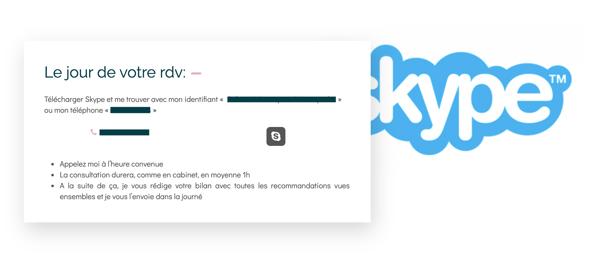 Capture skype pro santé consultation à distance