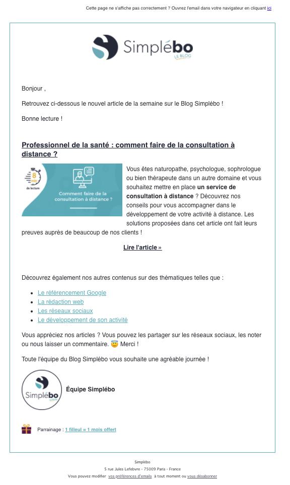 exemple creer newsletter efficace Simplébo