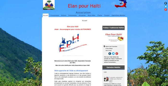 Elan haiti avant refonte site