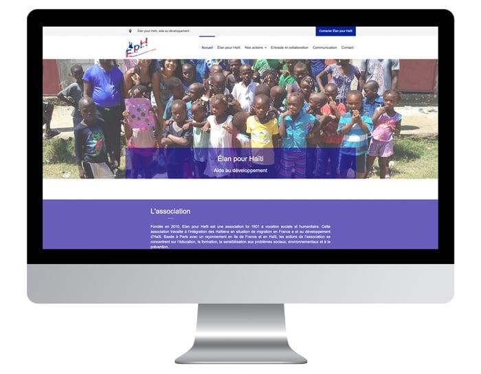 Exemple site internet d'association après la refonte webdesign