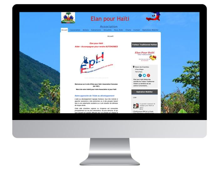 Exemple site internet d'association avant refonte graphique