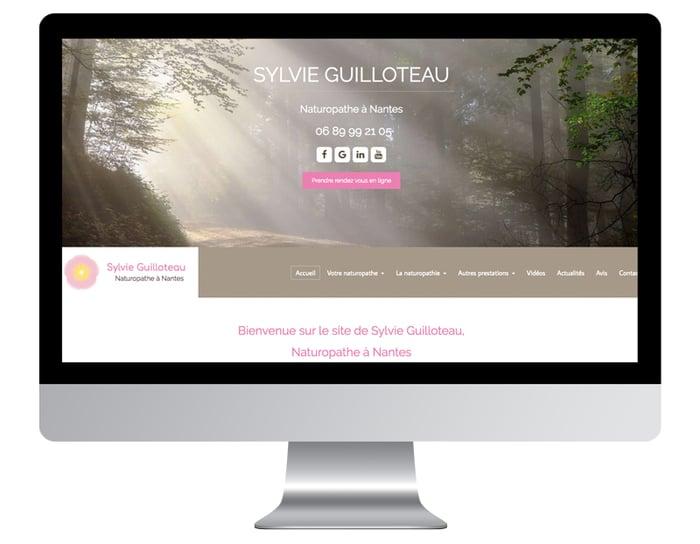 Exemple site internet naturopathe après refonte graphique