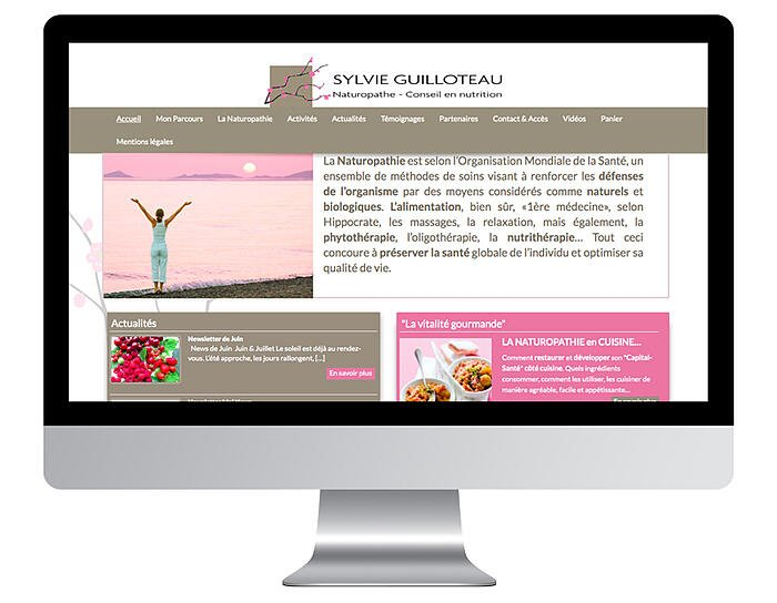 Exemple site internet de naturopathe avant refonte design