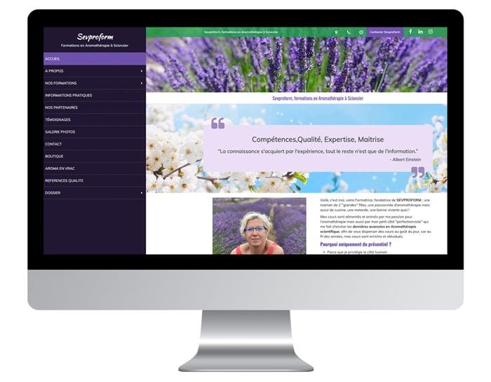 Exemple refonte de site internet pour professionnel