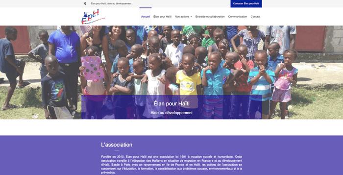elan haiti apres refonte site internet professionnel