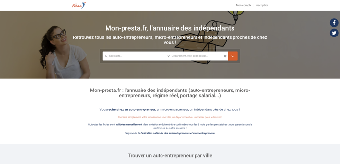 Exemple annuaire professionnel fnae