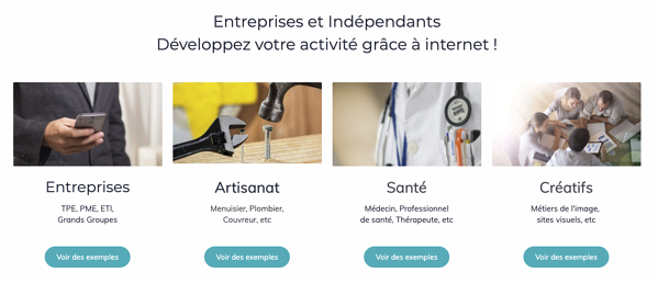 Exemple site simplebo ux design