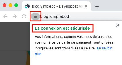 Securisation site internet blog simplebo