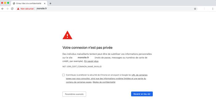 Site erreur securite https