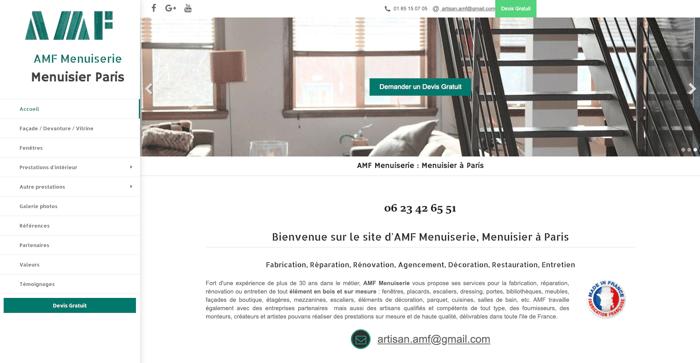 AMF meilleur exemple site internet artisan