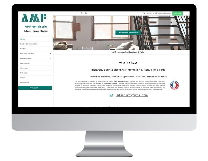 Exemple site internet artisan menuisier
