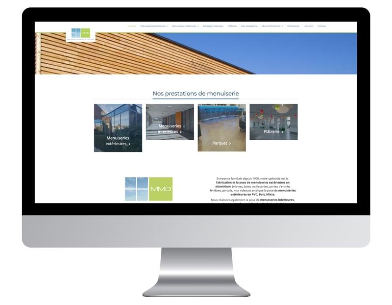 Image exemple site internet artisan menuisier