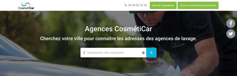 Annuaire professionnel Cosmeticar Agences