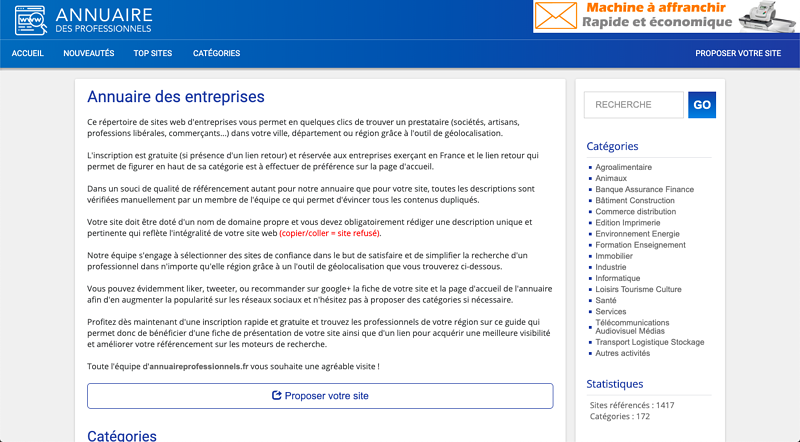 exemple annuuaire professionnel Design ameliorable 1