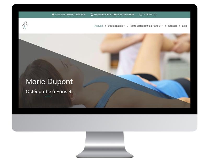 Exemple site ux trouver clients osteo