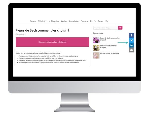 boutons reseaux sociaux site internet trouver clients