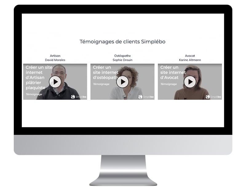 temoignage video simplebo clients site internet