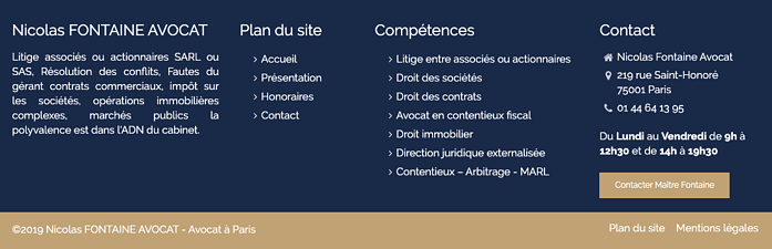 pied page page locale referencement seo