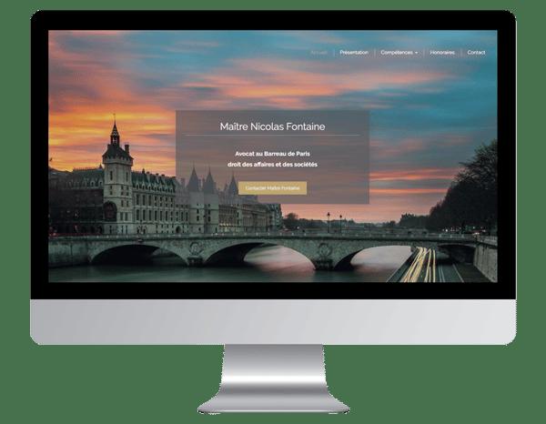 exemple site internet vitrine avocat
