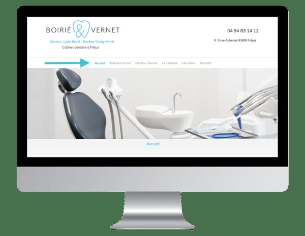 exemple site internet vitrine dentiste