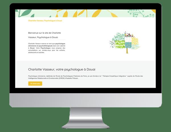 exemple site internet vitrine psychologue