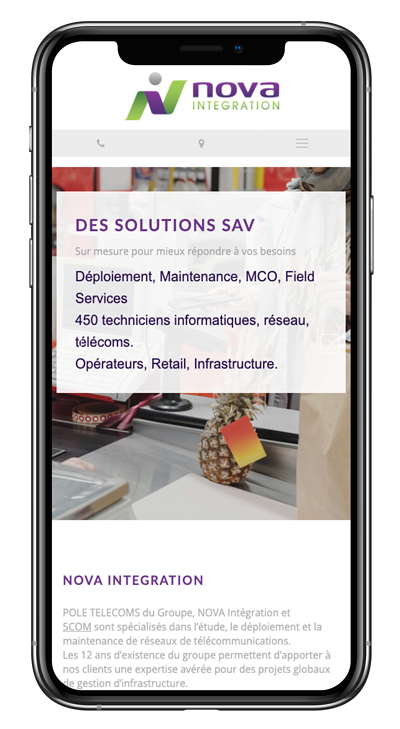 Exemple nova int site internet responsive design