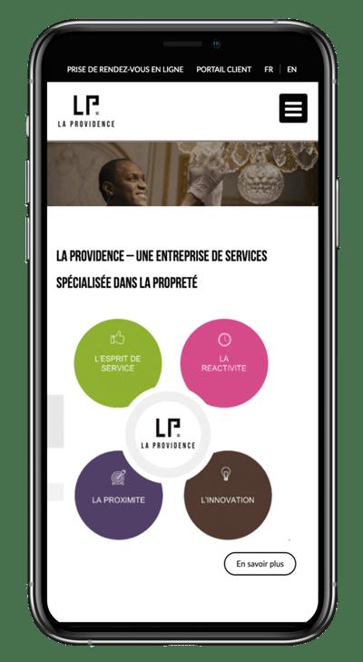Exemple AAF site internet responsive design