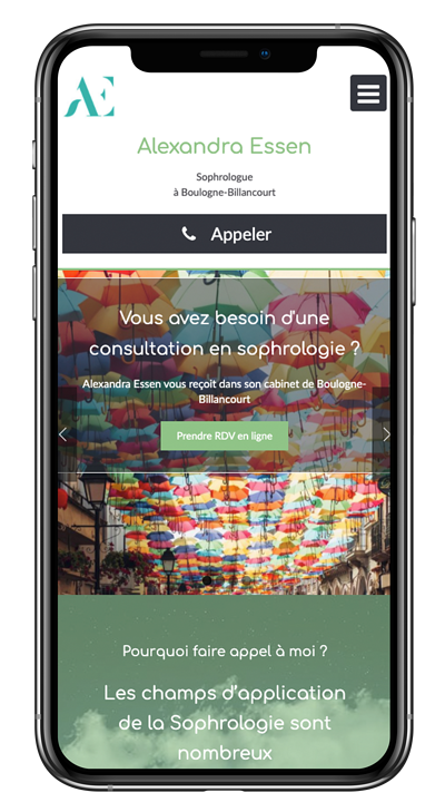 Exemple site internet responsive SEO essen sophro