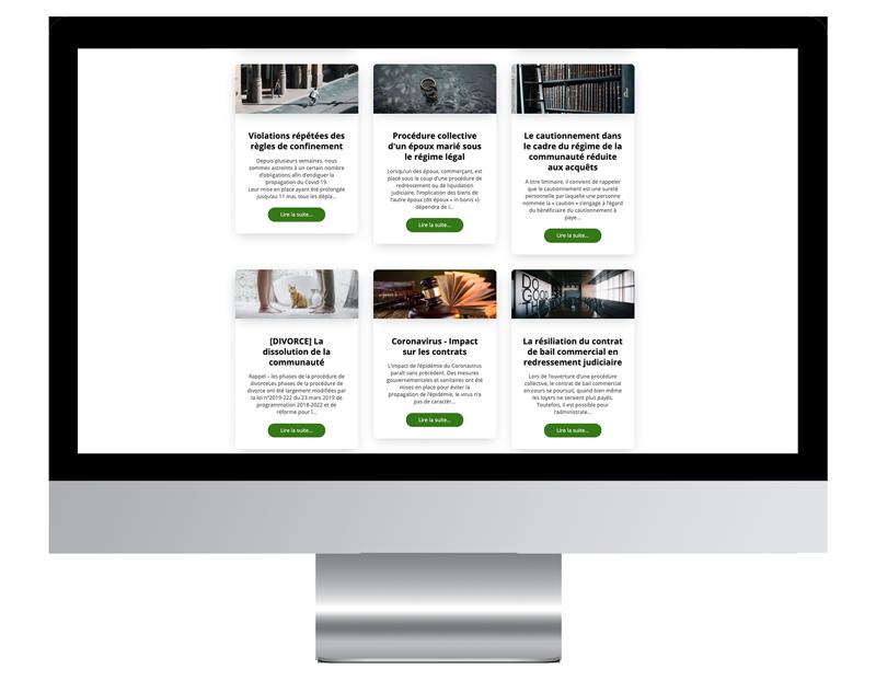 PLRAvocats creer site web professionnel
